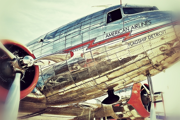 American Airlines Print by AK Photography