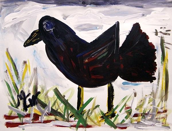 American Crow Print by Mary Carol Williams