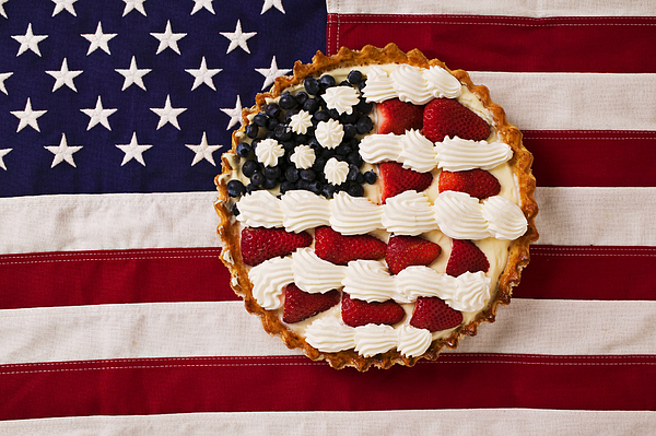 American Pie On American Flagamerican Pie On American Flagamer Print by Garry Gay