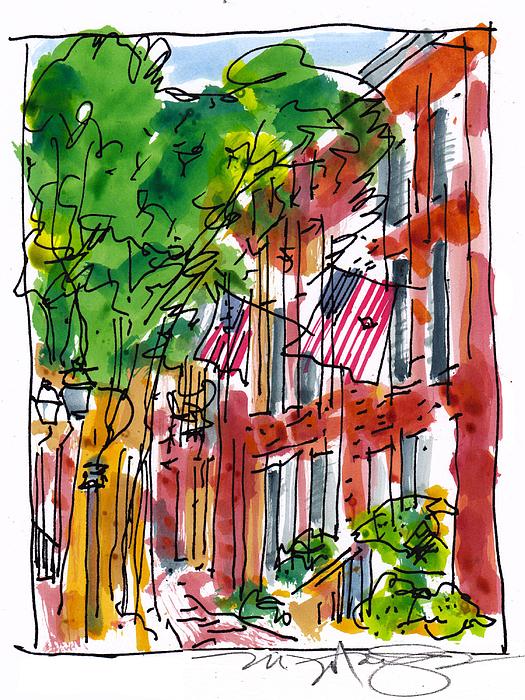 American Street Philadelphia Print by Marilyn MacGregor