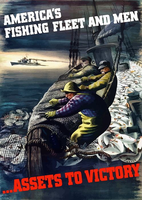 America's Fishing Fleet And Men  Print by War Is Hell Store