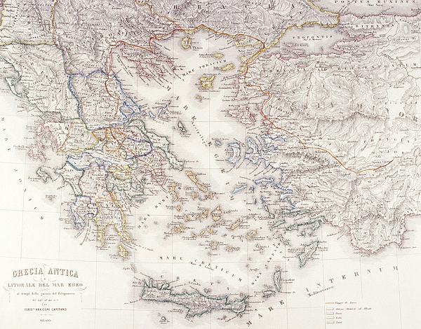 Ancient Greece Print by Fototeca Storica Nazionale