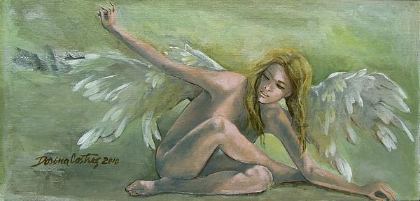 Angel Print by Dorina  Costras