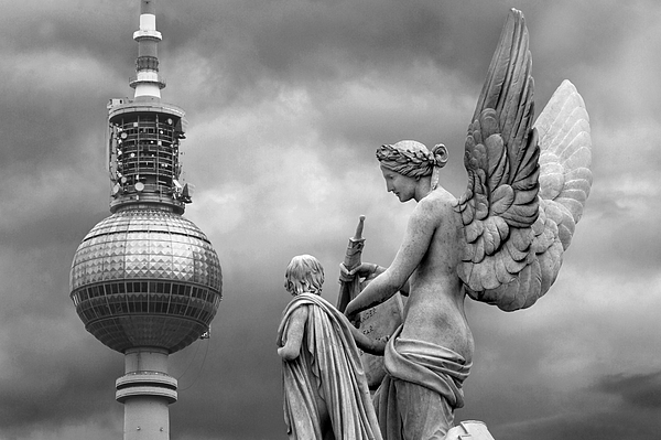 Angel In Berlin Print by Marc Huebner