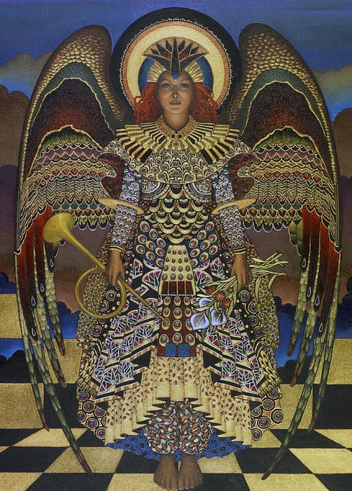Angel Print by Jane Whiting Chrzanoska
