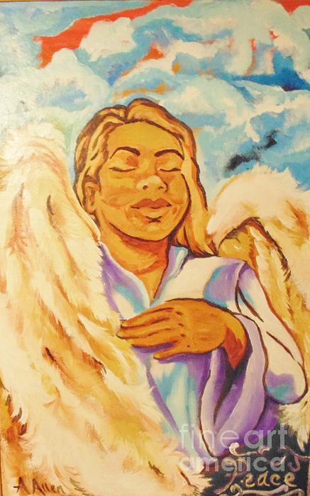 Angel Of Peace Print by Antoinette Allen