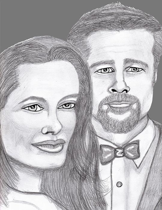 Angie And Brad Print by Richard Heyman