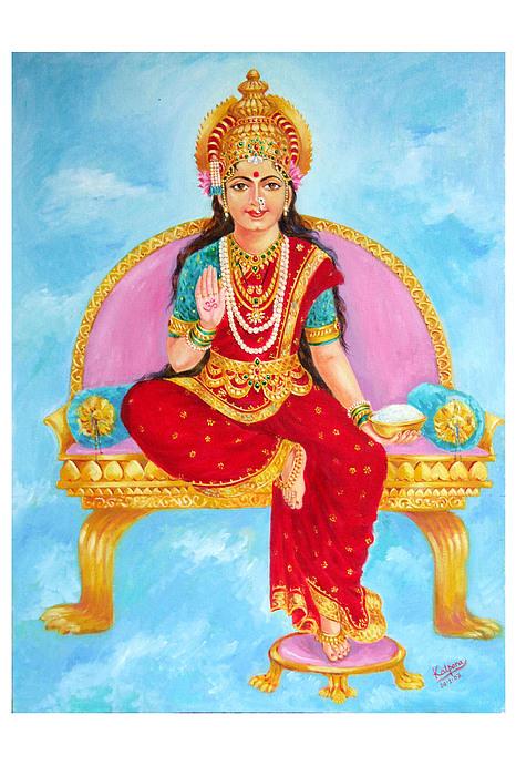 Annapurna Devi Print by Kalpana Talpade Ranadive