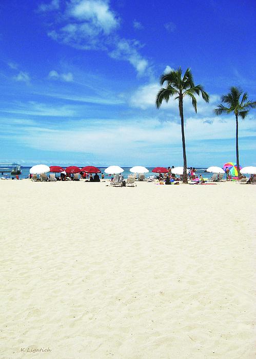 Another Beautiful Day In Waikiki Print by Kerri Ligatich