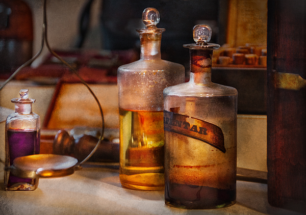 Apothecary - Magic Elixir Print by Mike Savad