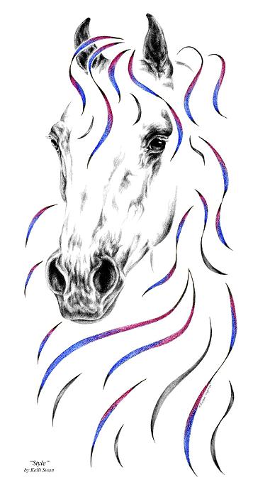 Arabian Horse Style Print by Kelli Swan