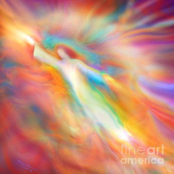 Archangel Jophiel Illuminating The Ethers Print by Glenyss Bourne