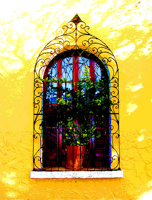 Arched Window By Darian Day Print by Olden Mexico