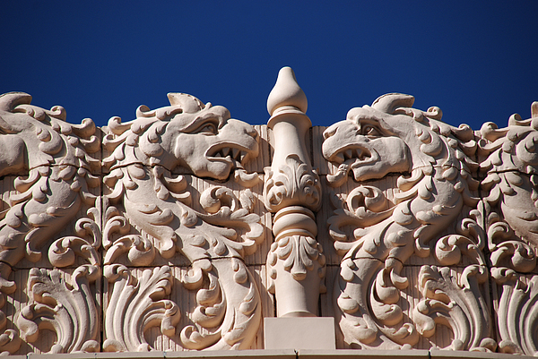 Architecture At The Lensic Theater In Santa Fe Print by Susanne Van Hulst
