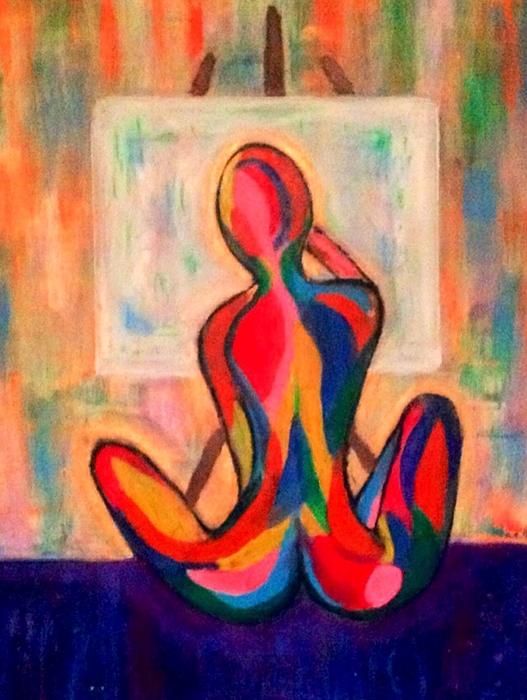 Anna Lee De Llano - Artist at work