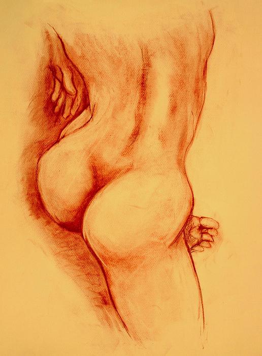 Asana Nude Print by Dan Earle