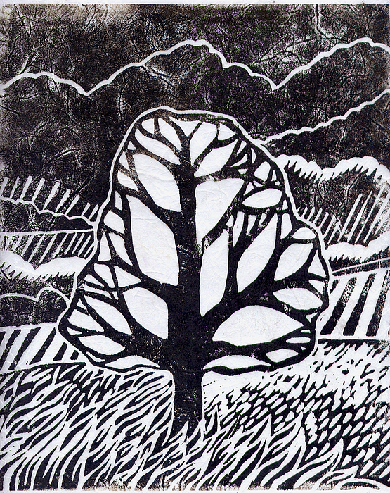 Ash Tree Print by Becca Thorne