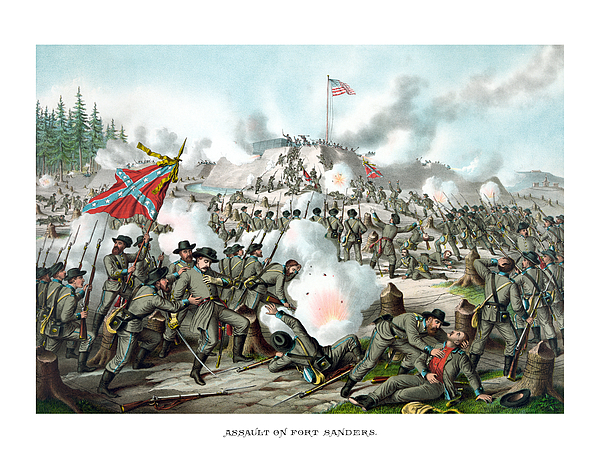 Assault On Fort Sanders Print by War Is Hell Store