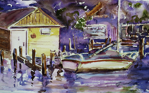 At Boat House 3 Print by Xueling Zou