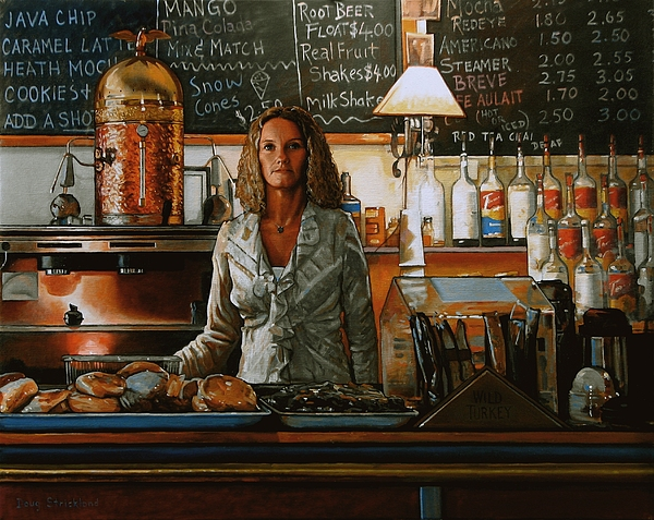 At The Coffee Mill Print by Doug Strickland