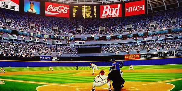 Atlanta Braves World Series Print by T Kolendera
