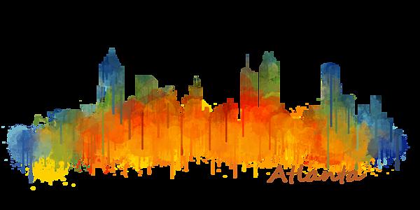 Atlanta City Skyline Hq V2 Shower Curtain For Sale By Hq Photo