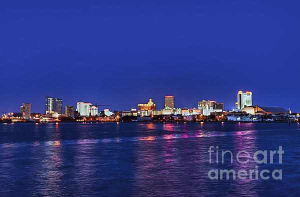 Atlantic City Skyline. Print by John Greim
