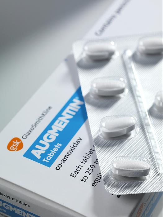 Augmentin Antibiotic Pills Print by Tek Image