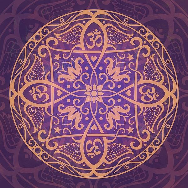 Aum Awakening Mandala Print by Cristina McAllister