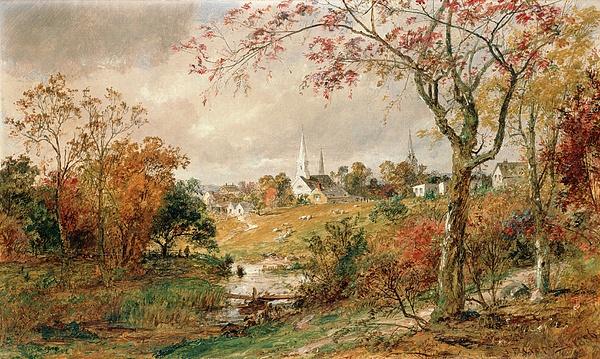 Autumn Landscape Print by Jasper Francis Cropsey