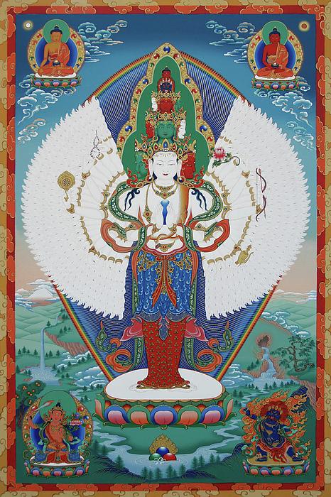 Avalokiteshvara Lord Of Compassion Print by Sergey Noskov