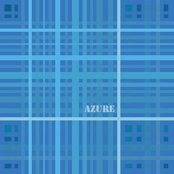 Azure Blue Abstract Print by Frank Tschakert