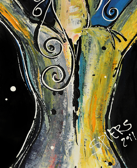 Back Bone Print by Amanda  Sanford