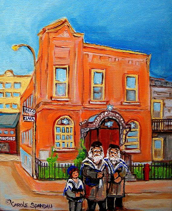 Bagg Street Synagogue Sabbath Print by Carole Spandau