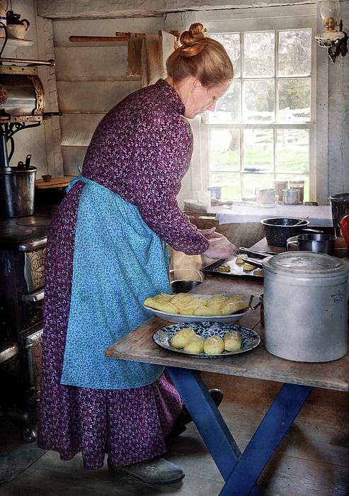 Baker - Preparing Dinner Print by Mike Savad