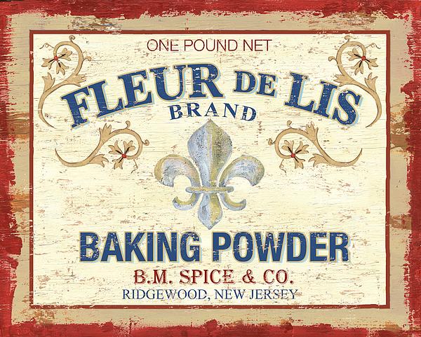 Baking Powder Fleur De Lis Print by Debbie DeWitt