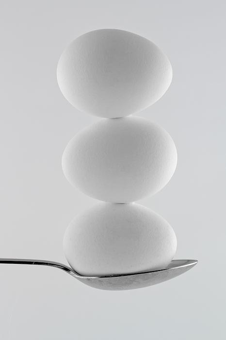 Balancing Eggs Print by Gert Lavsen