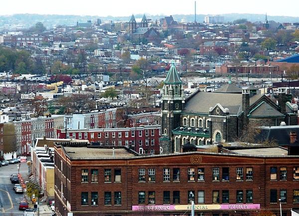 Baltimore Rooftops Print by Carol Groenen