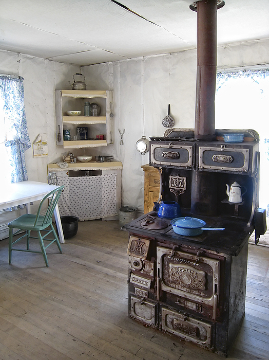 Bannack Ghost Town  Kitchen And Stove - Montana Territory Print by Daniel Hagerman