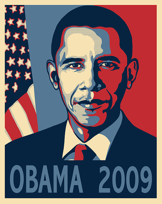 Barack Obama Presidential Poster Print by Sue  Brehant