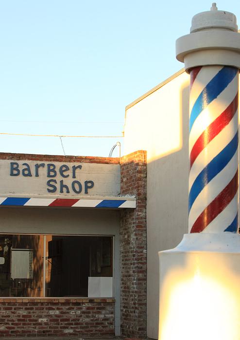Barber Shop Print by Troy Montemayor
