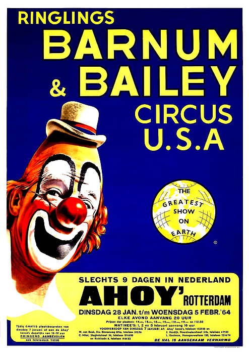VINTAGE Ringling Bros Barnum & Bailey Circus Poster