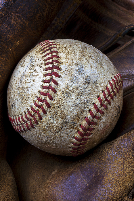 Baseball Close Up Print by Garry Gay