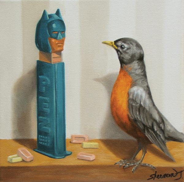 Batman And Robin Print by Judy Sherman