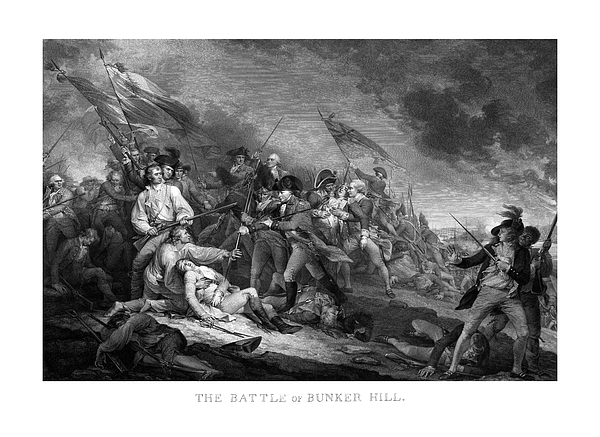 Battle Of Bunker Hill Print by War Is Hell Store