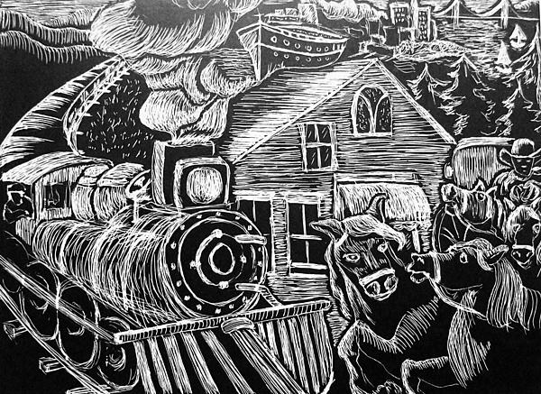 Bay Area Print by Valera Ainsworth