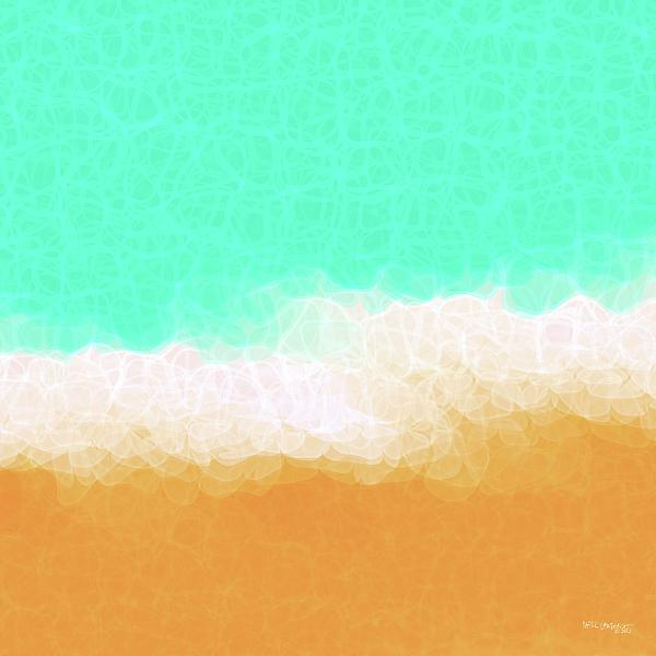 Beach Scene One Print by Mark Lawrence