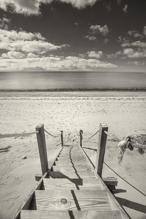 Beach Stairs Wellfleet Print by Dapixara Art