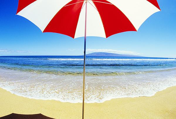 Beach Umbrella Print by Carl Shaneff - Printscapes