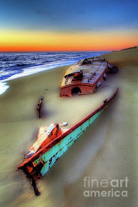 Beached Beauty Print by Dan Carmichael